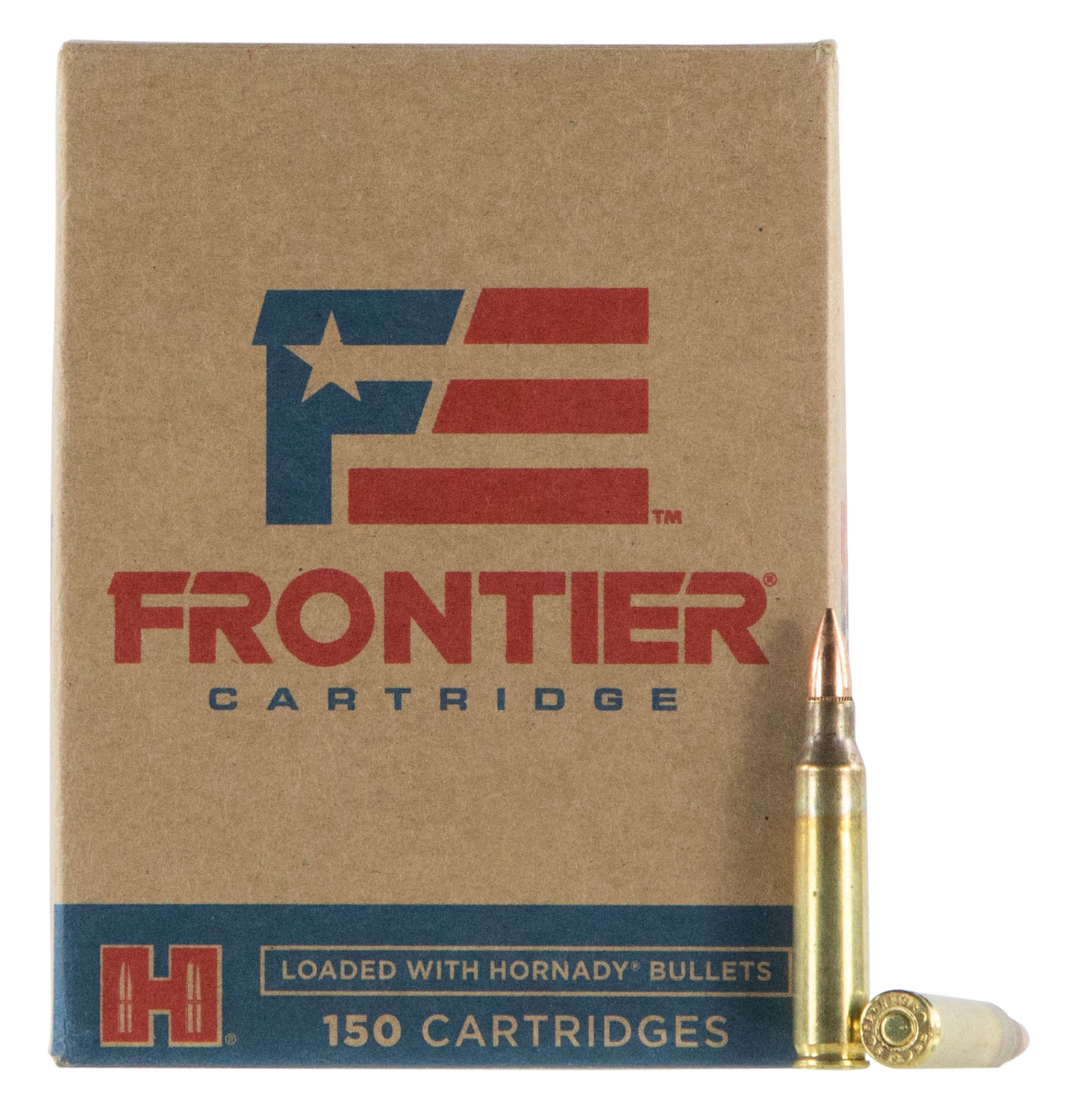 Frontier Cartridge FR2015 Frontier  5.56 NATO 55 GR Full Metal Jacket 150 Bx/ 8 Cs