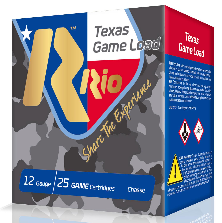 RIO AMMUNITION TGHV366TX Top Game High Velocity 12 Gauge 1-1/4 oz 6 Shot 25 Bx/ 10 Cs