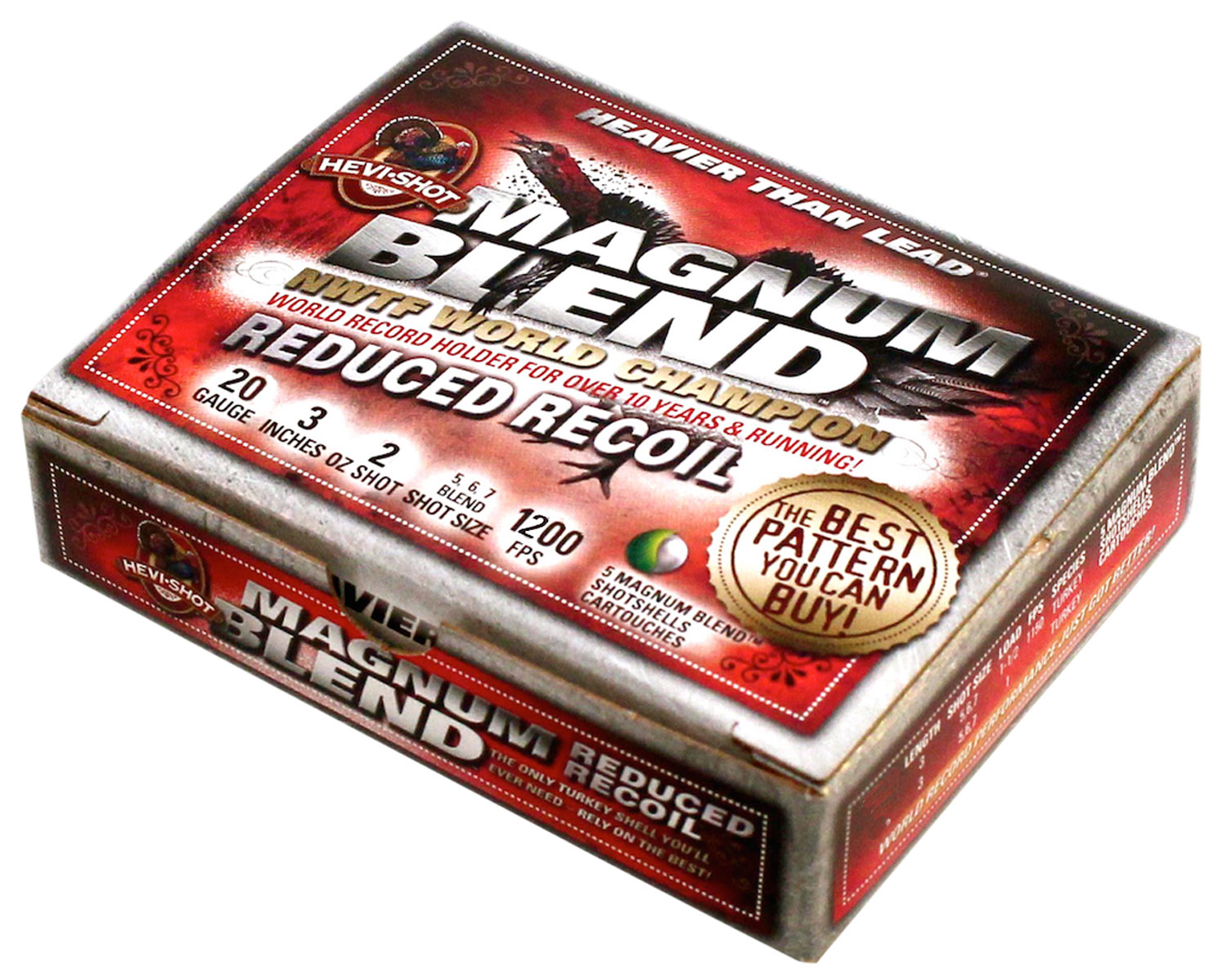 Hevishot 2567 Magnum Blend Reduced Recoil  12 Gauge 3