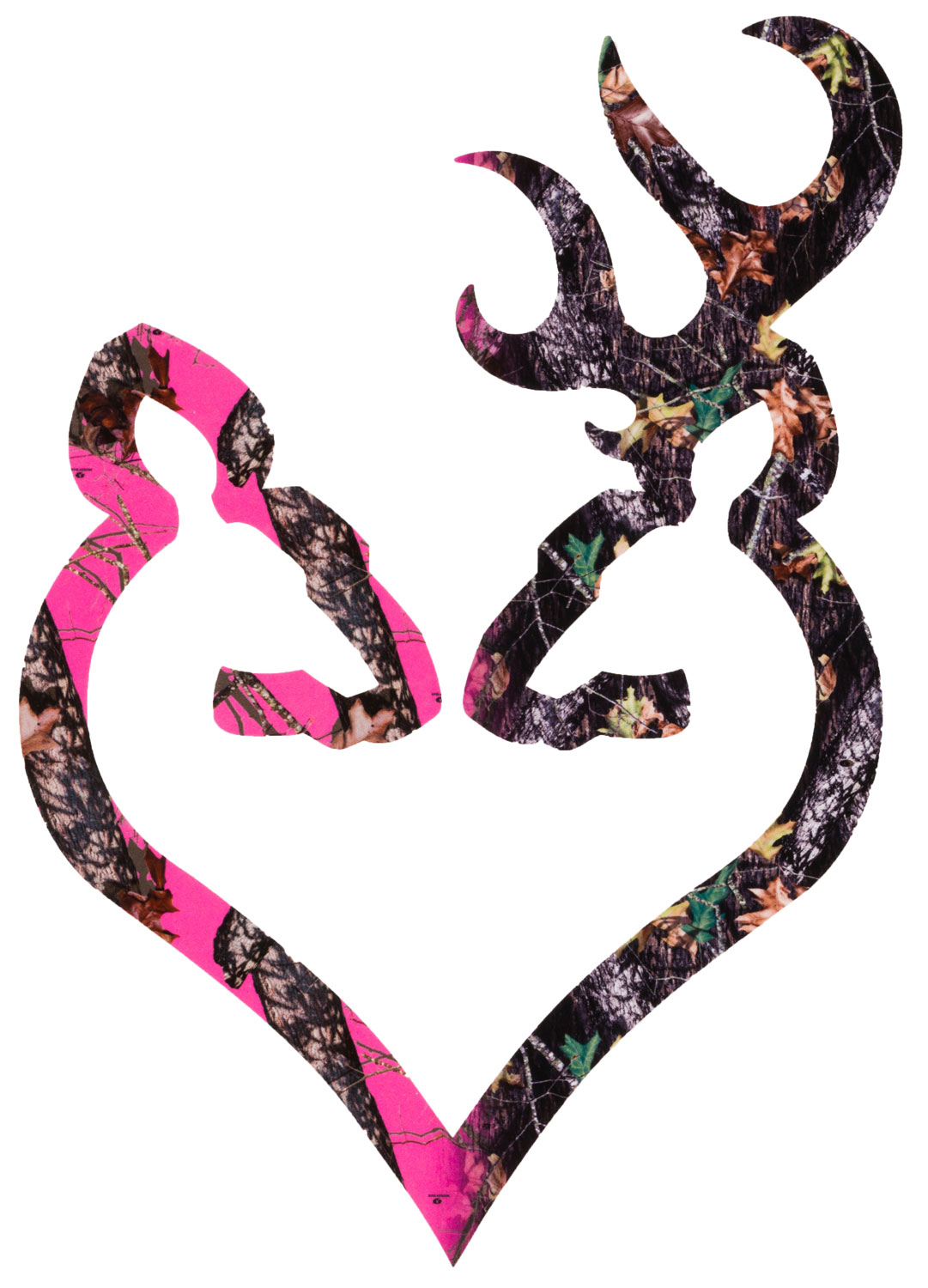 Browning 3922290614 Buck Mark  Heart Decal 6