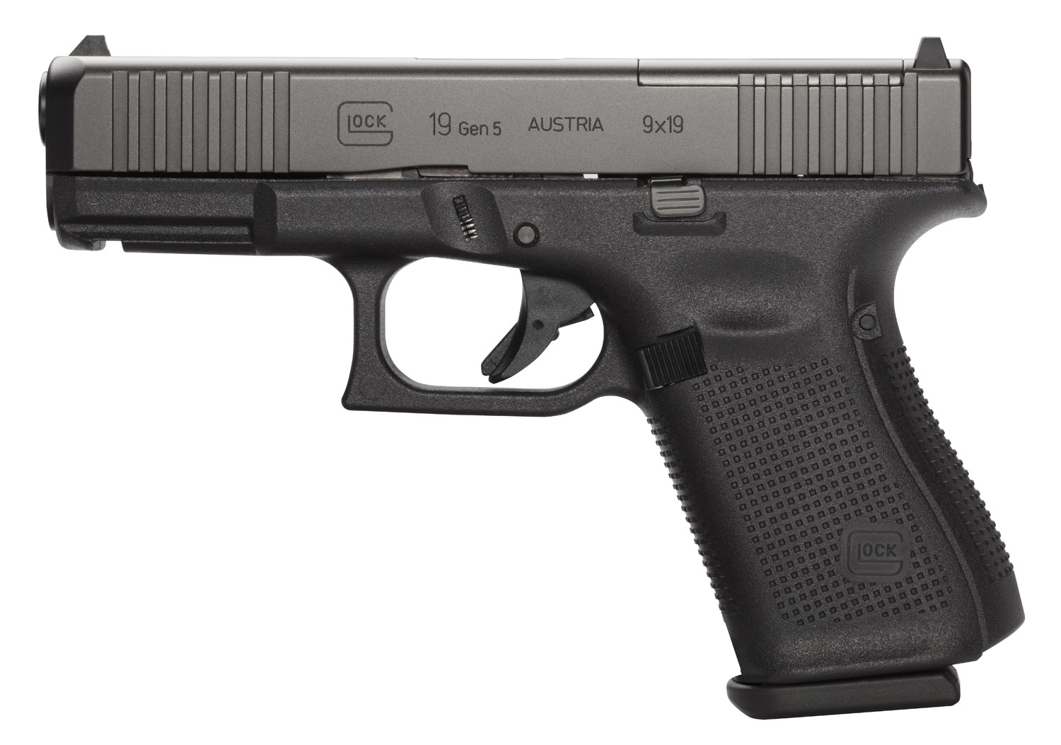 Glock PA195S201MOS G19 Gen 5 MOS FS 9mm Luger Double 4.02