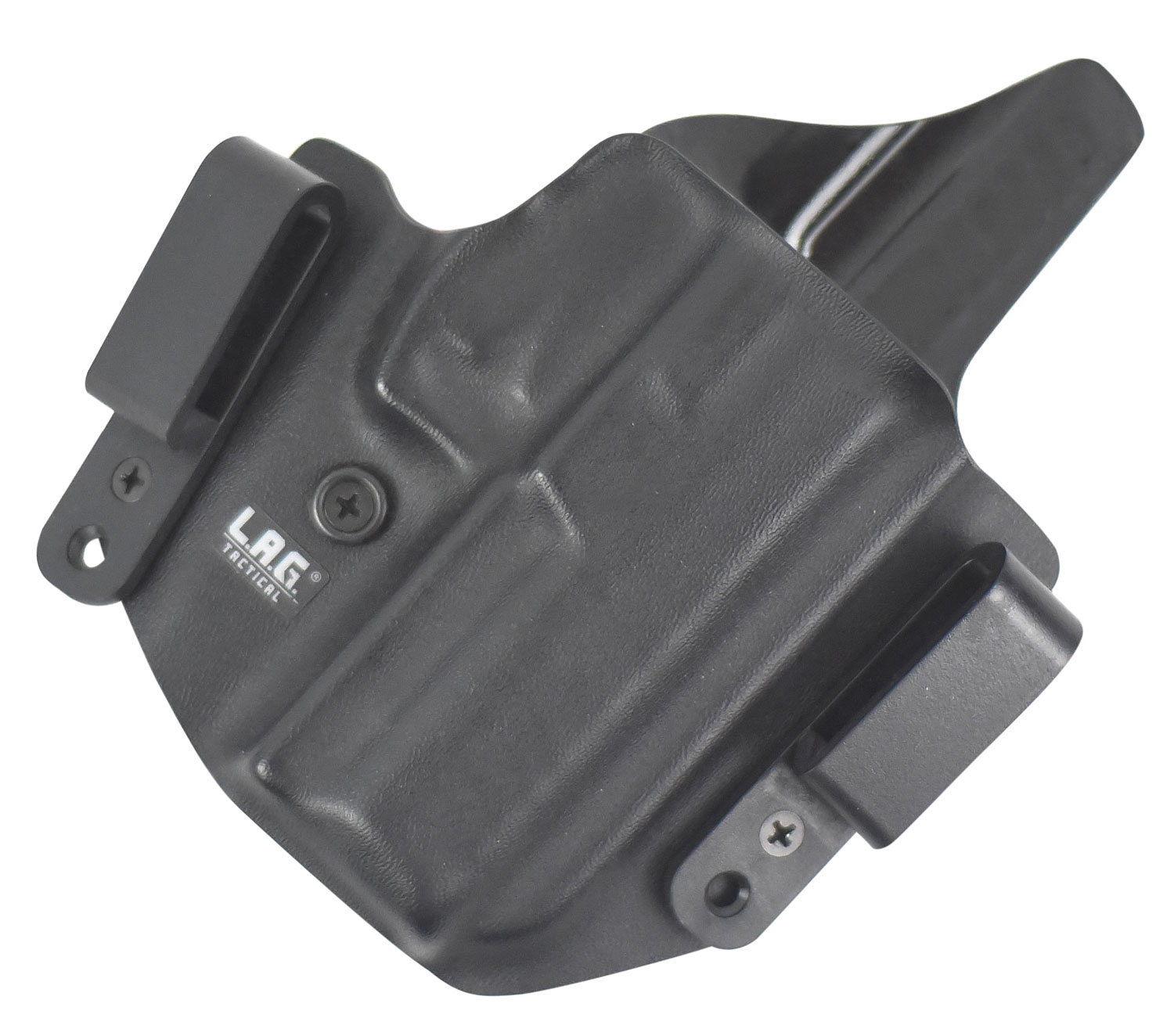 LAG TACTICAL INC 1053 Defender  Inside-Outisde-The-Waistband Holster Glock 43 Kydex Black
