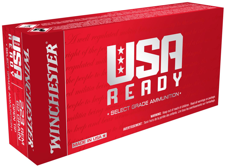 Winchester Ammo RED223 USA Ready   .223 Remington 62 GR 20 Bx/ 10 Cs
