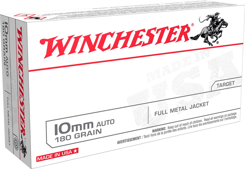 Winchester Ammo USA10MM USA Handgun  10mm 180 GR 50 Bx/ 10 Cs