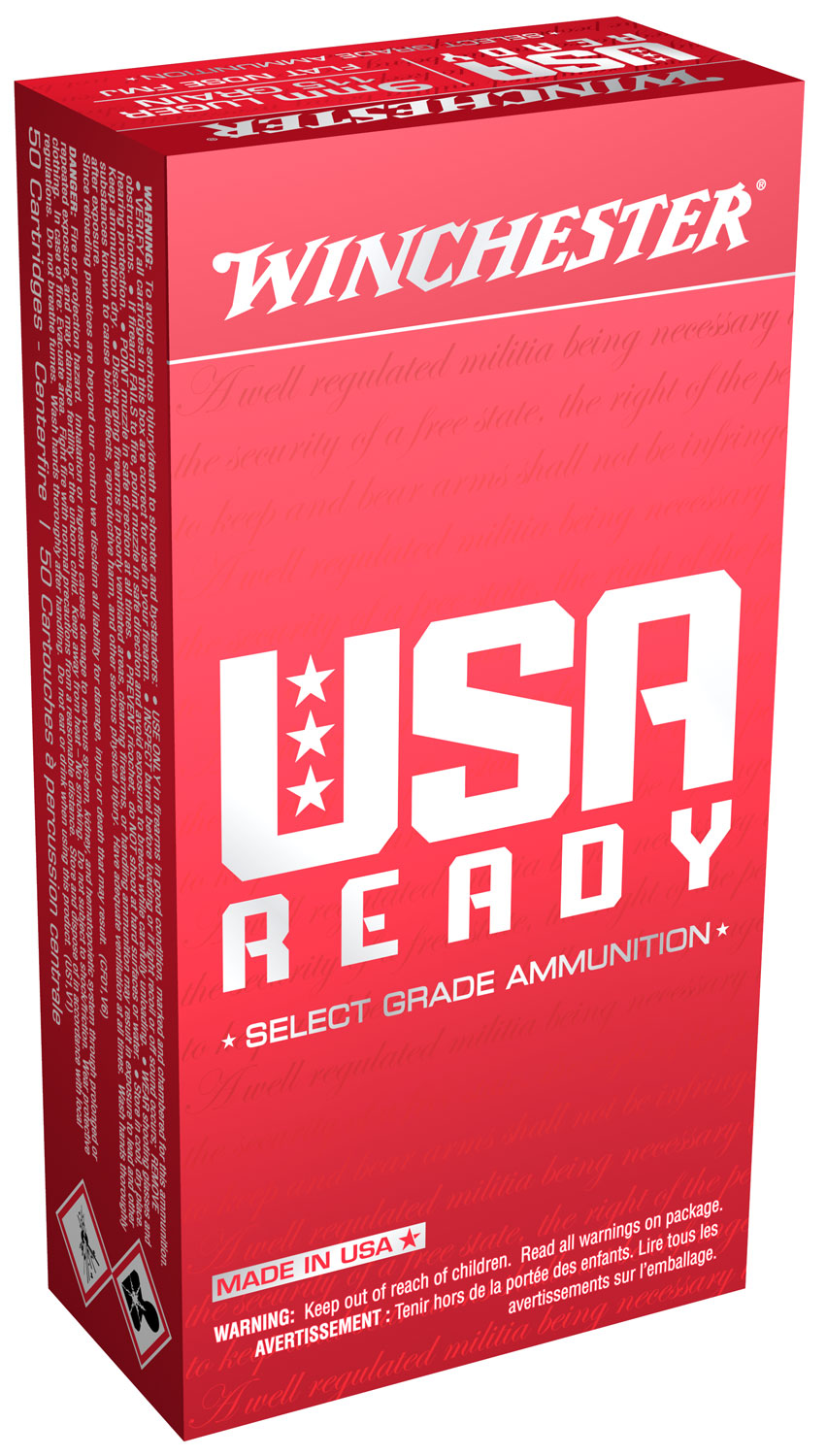 Winchester Ammo RED9 USA USA  9mm 115 GR Full Metal Jacket 50 Bx/ 10 Cs