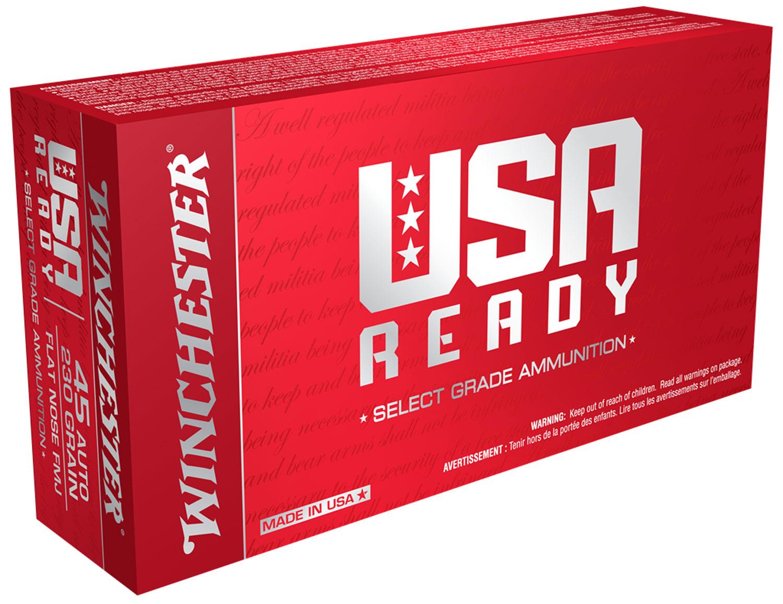 Winchester Ammo RED45 USA Ready USA  45 Auto Full Metal Jacket 50 Bx/ 10 Cs