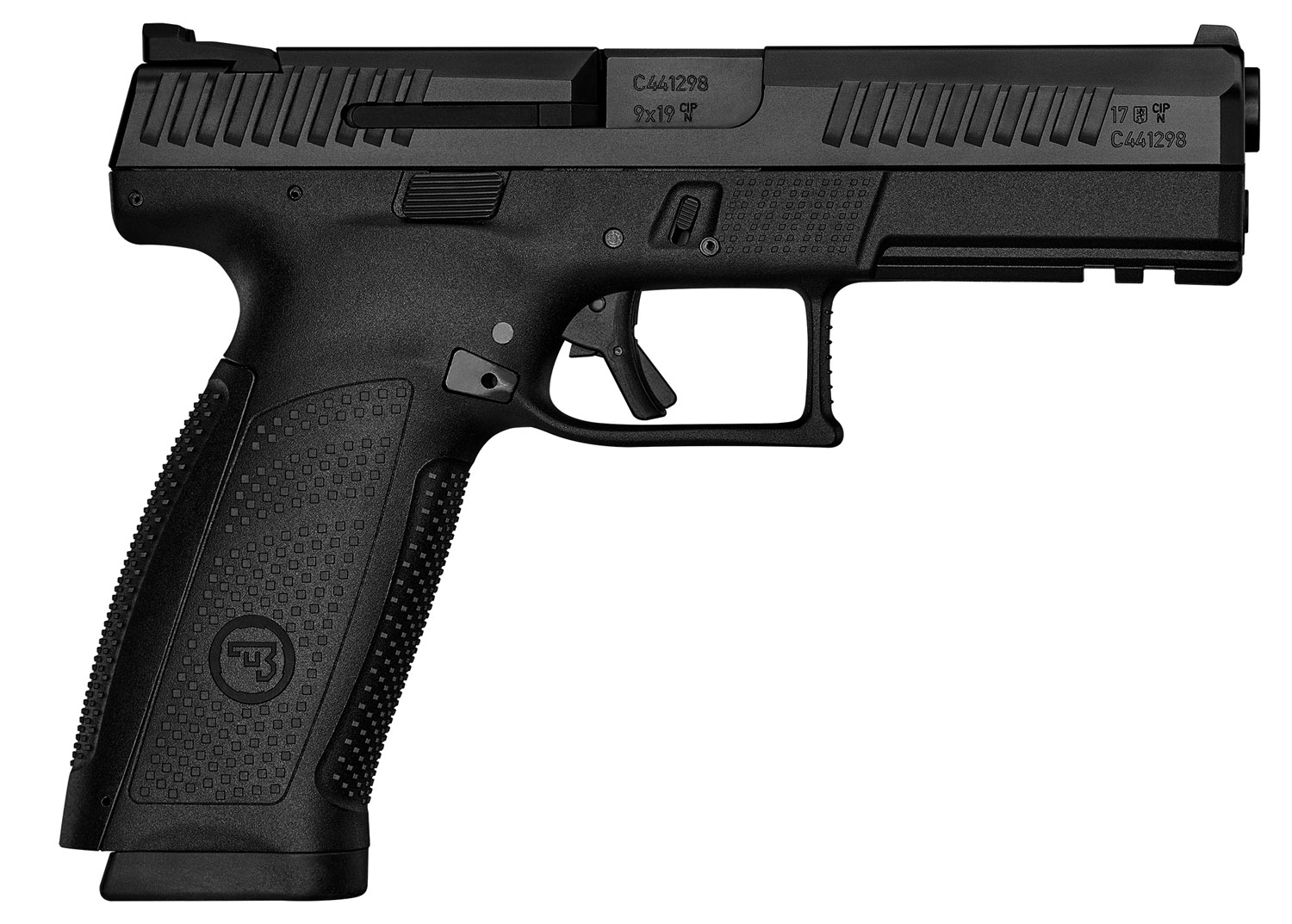P-10 F 9MM BLK/POLY 10+1 - REVERSIBLE MAG CATCH