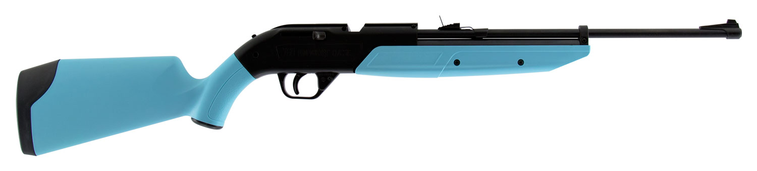 Crosman 760LB 760 Pumpmaster   Air Rifle Bolt .177 Pellet/BB 18 Round Synthetic Light Blue Stk Black