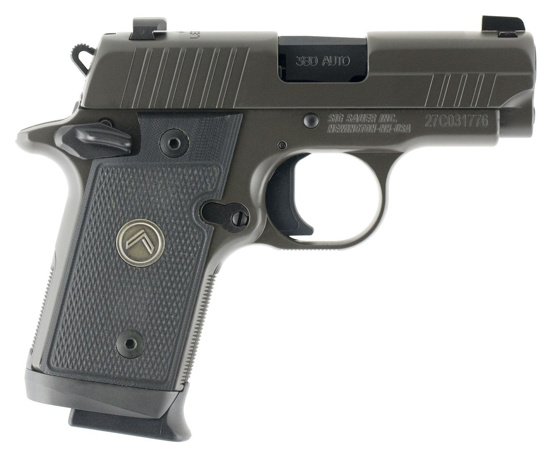 Sig Sauer 238380LEGION P238 Micro-Compact Legion  380 Automatic Colt Pistol (ACP) Single 2.7