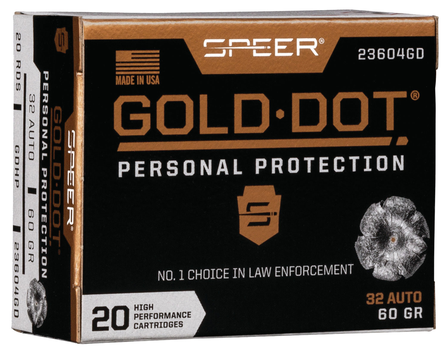 SPR GOLD DOT 32ACP 60GR HP 20/200