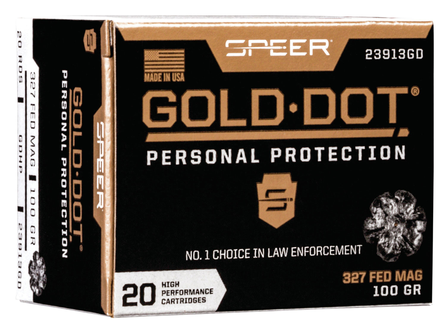SPR GOLD DOT 327FED 100GR HP 20/200