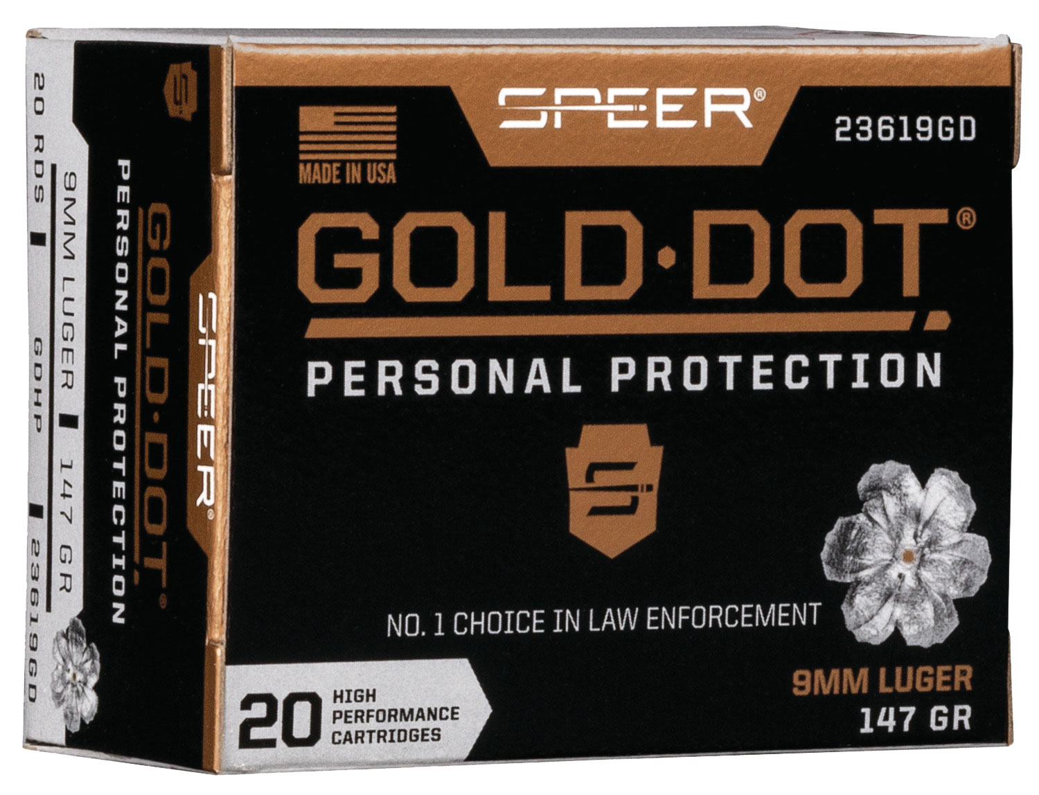 SPR GOLD DOT 9MM 147GR HP 20/200