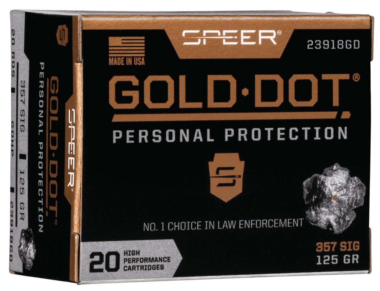 SPR GOLD DOT 357SIG 125GR HP 20/200