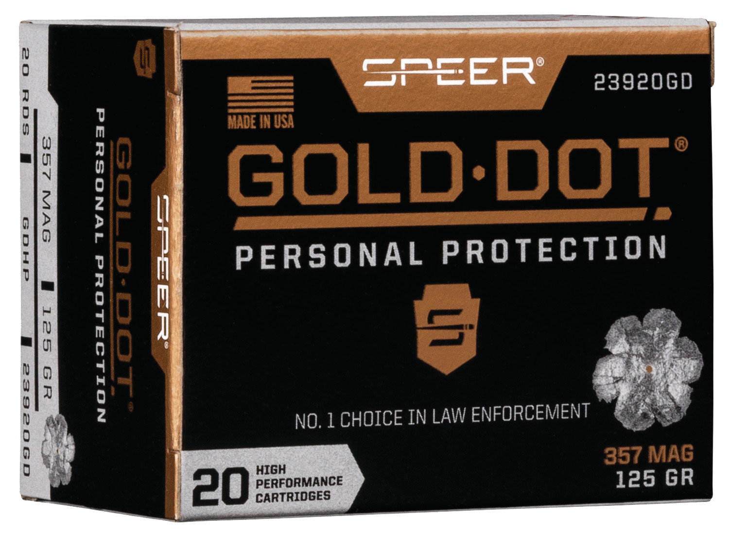 SPR GOLD DOT 357MAG 125GR HP 20/200