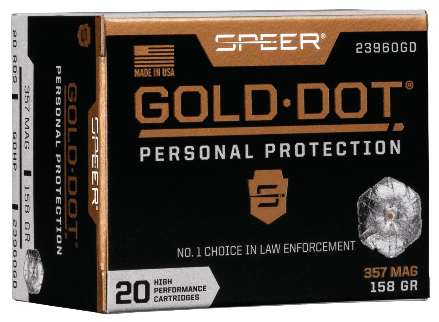 SPR GOLD DOT 357MAG 158GR HP 20/200