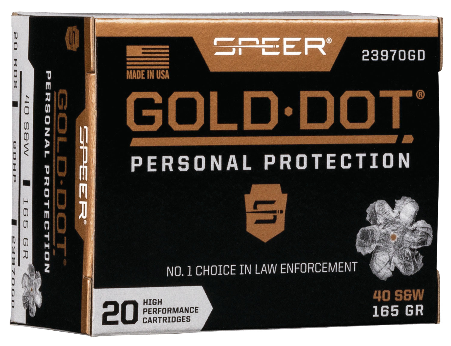 SPR GOLD DOT 40SW 165GR HP 20/200