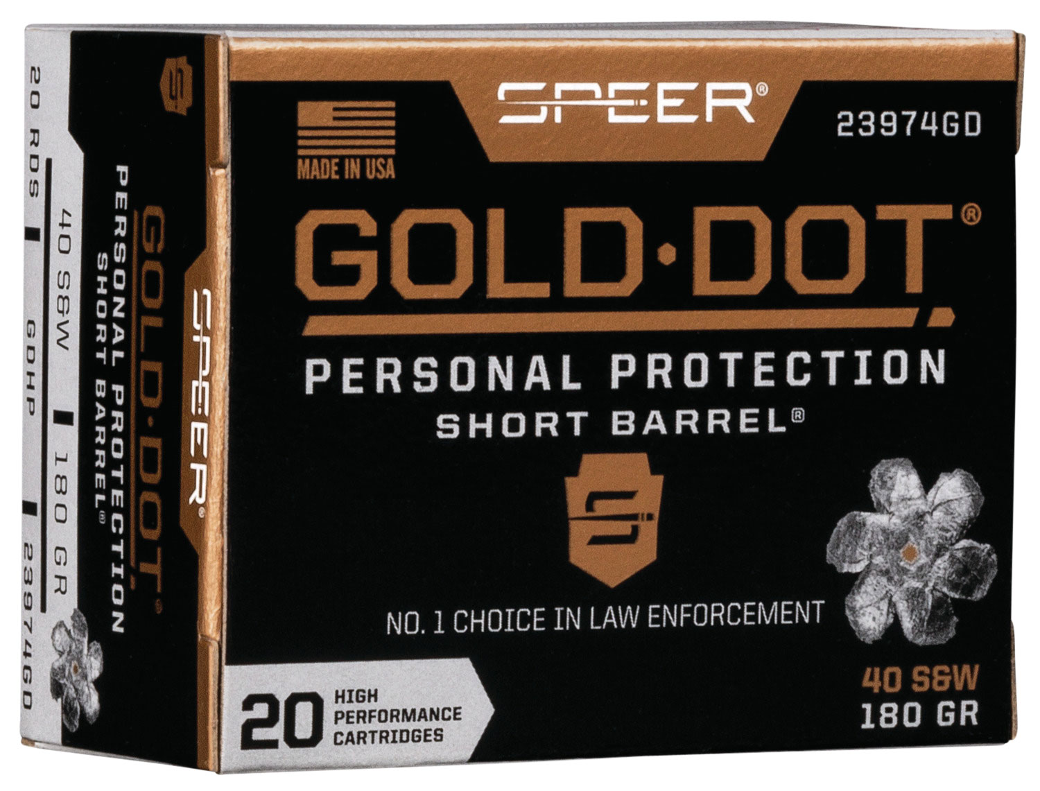 SPR GOLD DOT 40SW 180GR HP SB 20/200