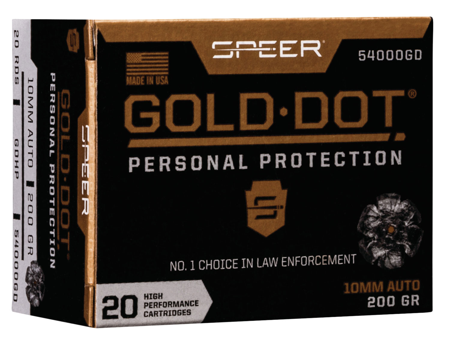 SPR GOLD DOT 10MM 200GR HP 20/200