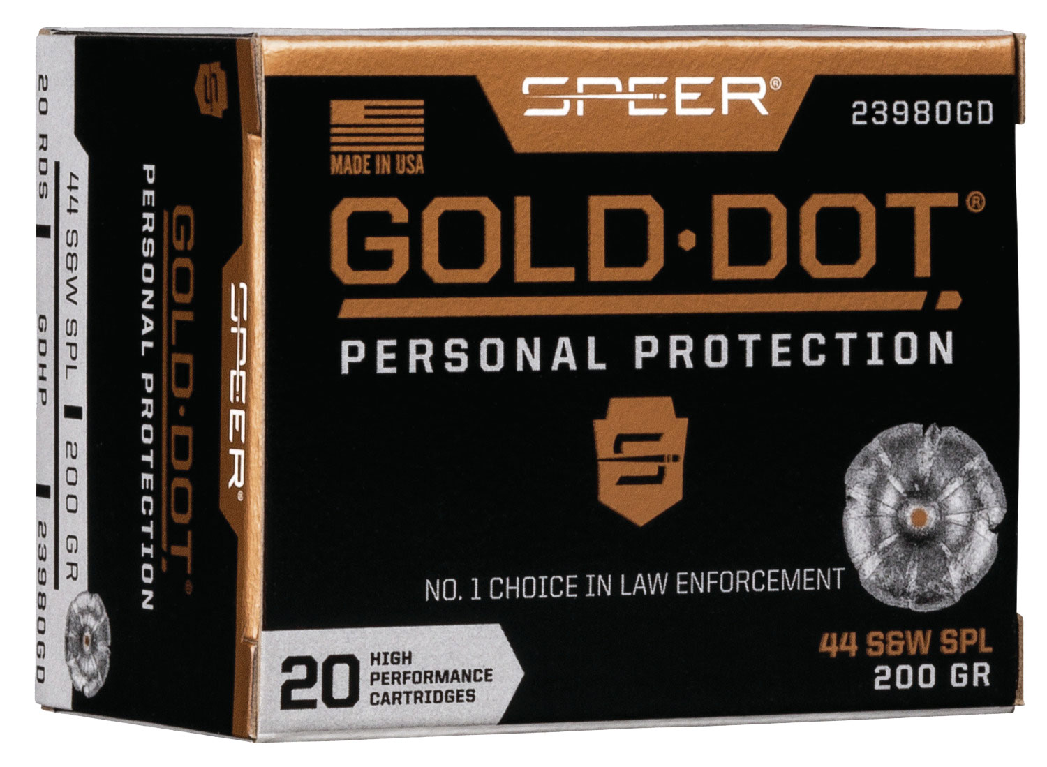 SPR GOLD DOT 44SPL 200GR HP 20/200