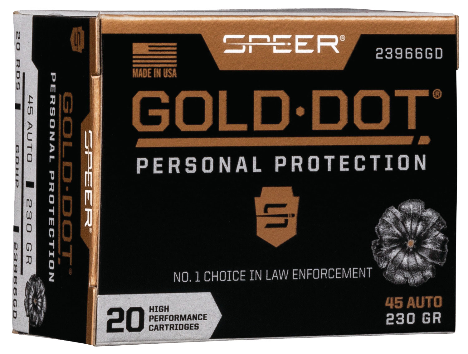 SPR GOLD DOT 45ACP 230GR HP 20/200