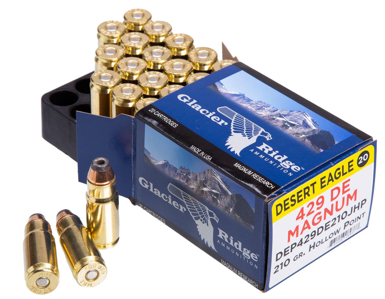 Magnum Research DEP429DE210J Desert Eagle   429 DE Magnum (Desert Eagle) 210 GR Jacketed Hollow Point 20 Bx/ 10 Cs
