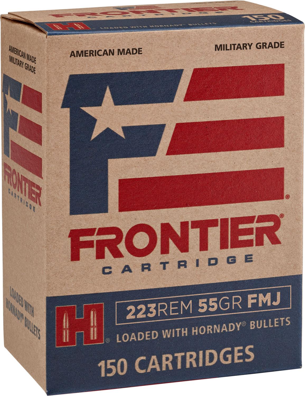 Frontier Cartridge FR1015 Frontier   223 Remington 255 GR Full Metal Jacket 150 Bx/ 8 Cs
