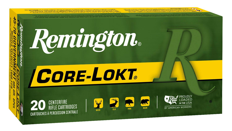 Remington Ammunition 21459 Core-Lokt   45-70 Government FP 405 GR Core-Lokt Soft Point 20 Bx/ 10 Cs