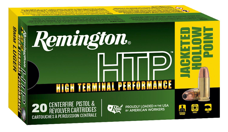 Remington Ammunition RTP9MM8A High Terminal Performance   9mm Luger 147 GR Jacketed Hollow Point 20 Bx/ 25 Cs