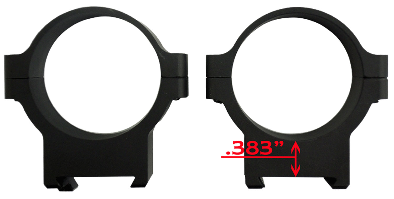 CZ 40012 CZ 550/557 Scope Rings 34mm Ring Set Low Aluminum Black Matte