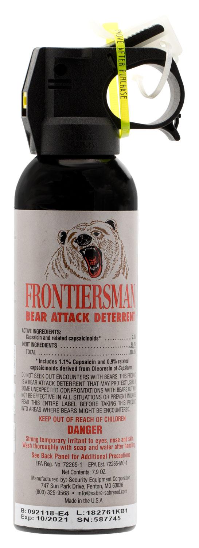 SABRE BEAR SPRAY FRONTIERSMAN BEAR DETERRENT 7.9OZ/45GR