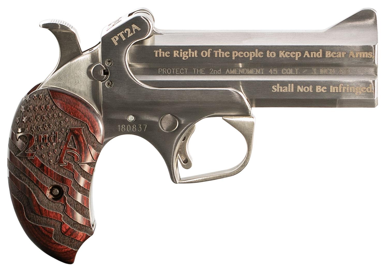 Bond Arms PT2A Protect the 2nd Amendment   Derringer Single 45 Colt (LC)/410 Gauge 4.25