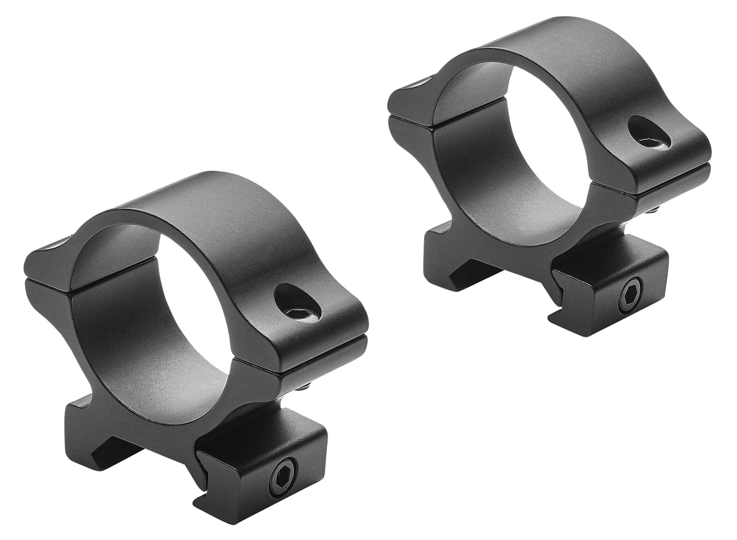 Leupold 171478 Rifleman   Ring Set 30mm Diam Medium Aluminum Black Matte