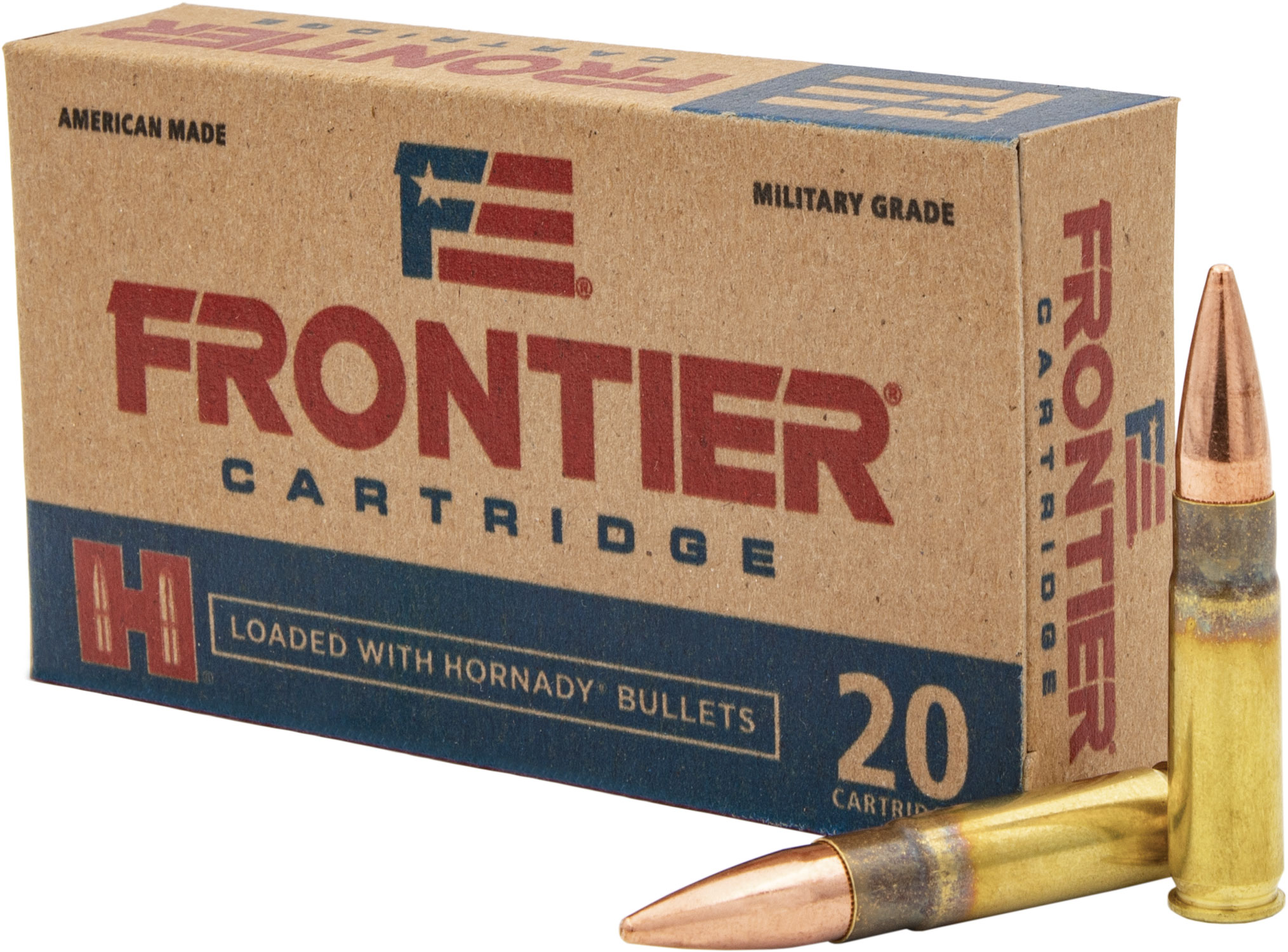 Frontier Cartridge FR400 Frontier   300 Blackout 125 GR Full Metal Jacket 20 Bx/ 10 Cs