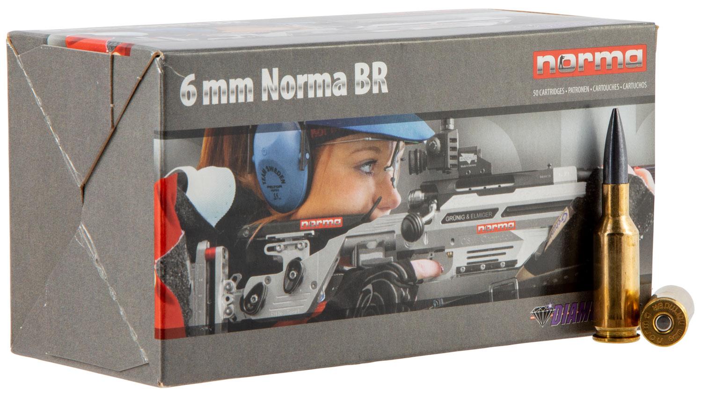 NORMA AMMUNITION (RUAG) 10160162 Match Diamond Line Berger 6mm Norma Bench Rest 105 GR Coated Hollow Point 50 Bx/6 Cs