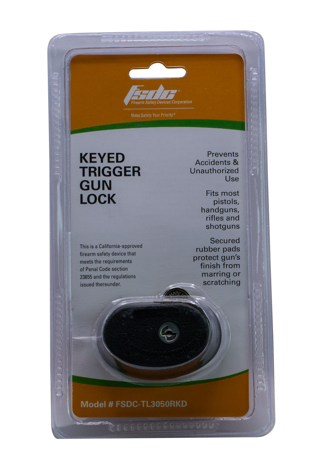 FSDC TRIGGER GUARD GUN LOCK 1-PK W/2 KEYS CA APPROVED