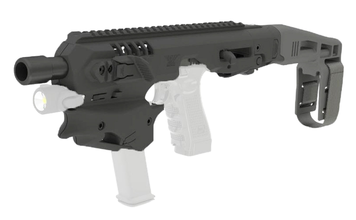 Command Arms MCK MCK Standard Conversion Kit Glock 17/19/19X/22/23/31/32/45 Gen3-5 Black Polymer Stock