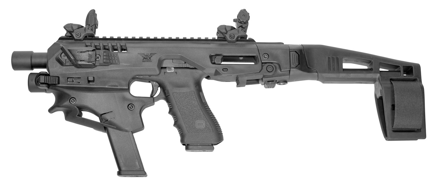 Command Arms MCKA MCK Advanced Conversion Kit Glock 17/19/19X/22/23/31/32/45 Gen3-5 Black Polymer Stock