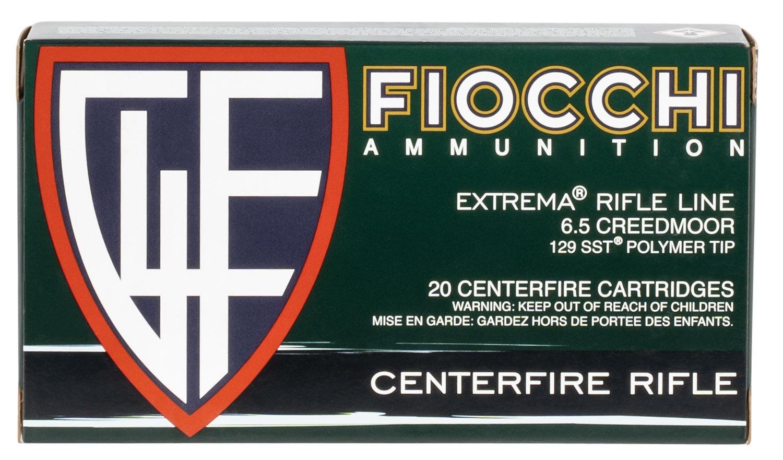 Fiocchi 65MHSA    6.5 Creedmoor 129 GR SST 20 Bx/ 10 Cs