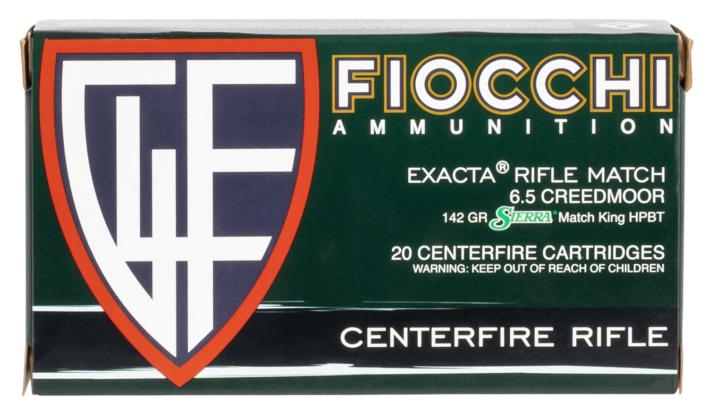 Fiocchi 65CMMKB    6.5 Creedmoor 140 GR Hollow Point Boat Tail 20 Bx/ 10 Cs