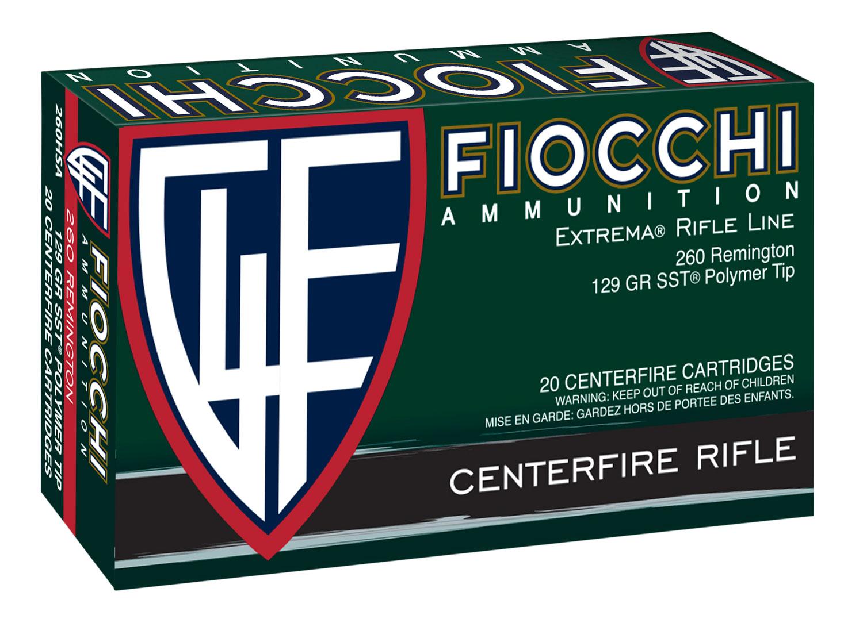 Fiocchi 260HSA    260 Remington 129 GR SST 20 Bx/ 10 Cs