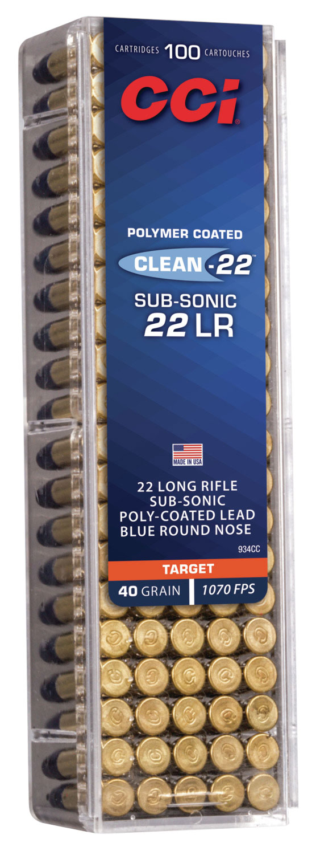 CCI 944CC Target & Plinking   22 Long Rifle (LR) 40 GR Lead Round Nose 100 Bx/ 50 Cs