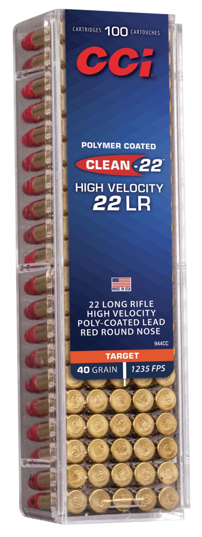 CCI 934CC Target & Plinking Standard Velocity  22 Long Rifle (LR) 40 GR Lead Round Nose 100 Bx/ 50 Cs