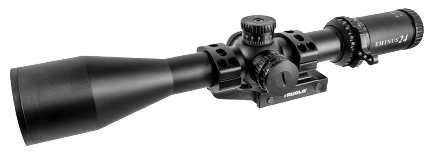 Truglo TG8562TLR Eminus Tactical Riflescope  6-24x 50mm Obj 30mm Tube Black Hardcoat Anodized Finish Illuminated TacPlex