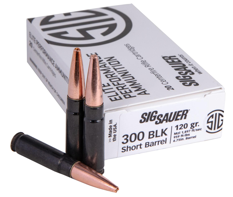 Sig Sauer E300H1SBR20 Hunting Elite 300 Blackout 120 GR Copper Solid 20 Bx/10 Cs