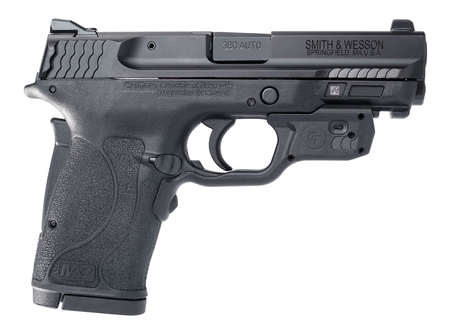 Smith & Wesson 12611 M&P 380 Shield EZ Crimson Trace Laserguard 380 Automatic Colt Pistol (ACP) Double 3.675