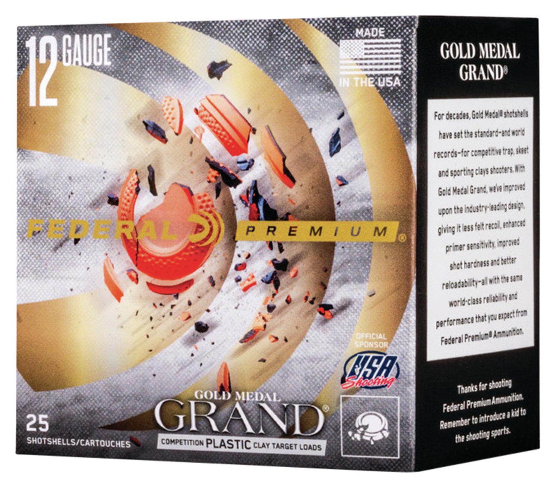 Federal GMT11975 Premium Gold Medal Grand Plastic  12 Gauge 2.75