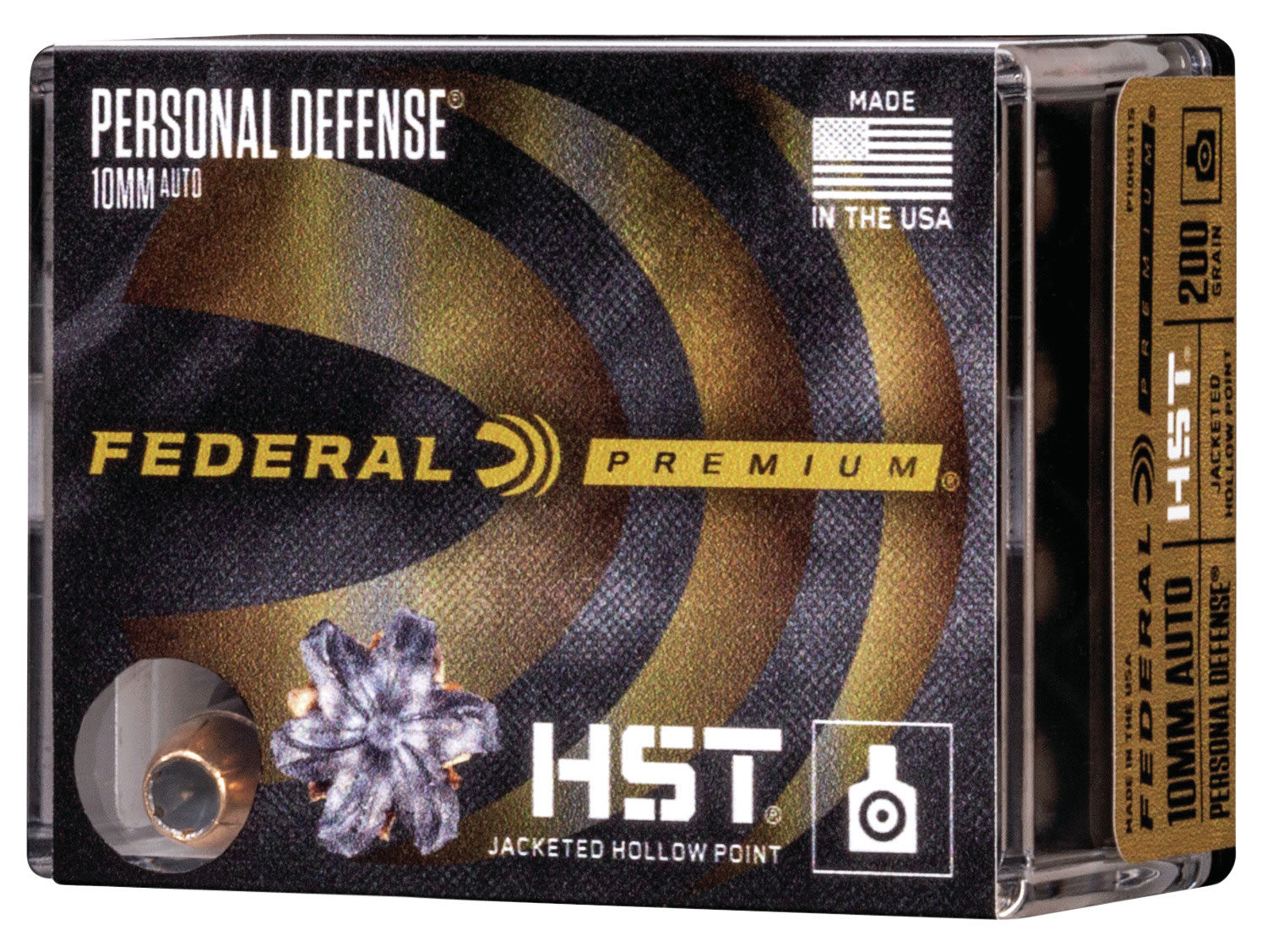 Federal P10HST1S Personal Defense  10mm Auto 200 GR HSTJHP 20 Bx/ 10 Cs