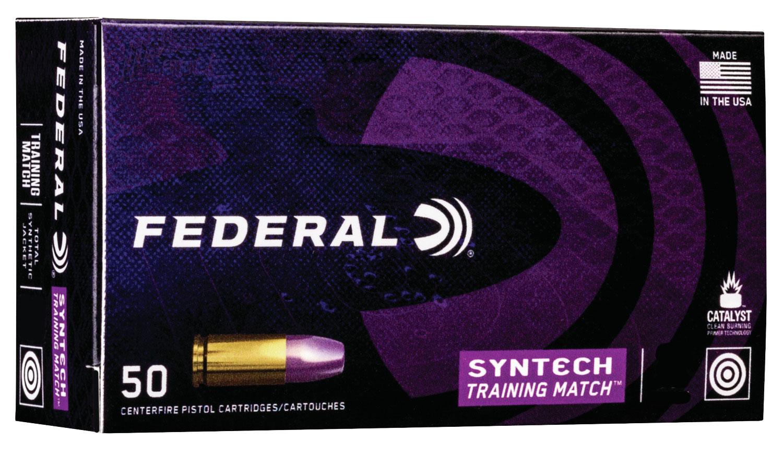 Federal AE45SJ2 Syntech Training Match 45 ACP 230 gr Total Syntech Jacket Flat Nose (TSJFN) 50 Bx/ 10 Cs