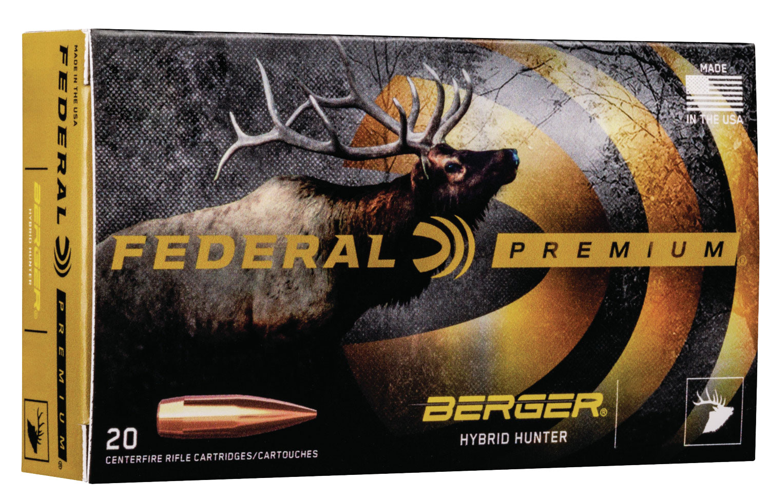 Federal P300WSMBCH1 Premium   300 Win Short Mag (WSM) 185 GR Berger Hybrid Hunter 20 Bx/ 10 Cs