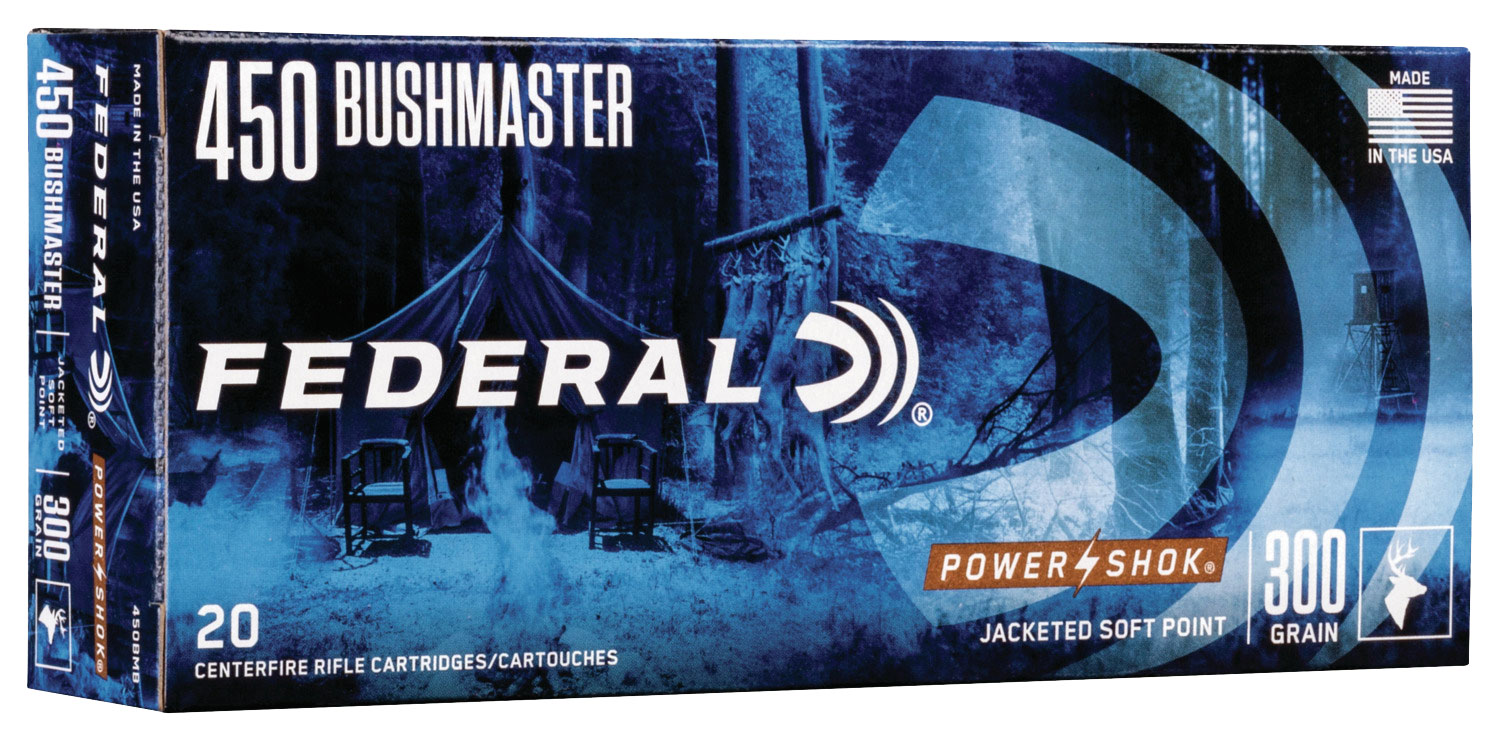 Federal 450MDT1 Non-Typical   450 Bushmaster 300 GR Non-Typical Soft Point (SP) 20 Bx/ 10 Cs